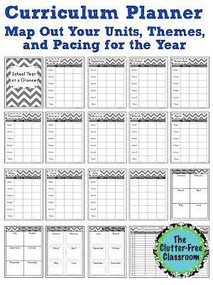Curriculum Planner {Editable Maps, Pacing Guide, Lesson Planner, Teacher Organization Tool}
