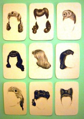 Classic 50's hairstyles with instructions. These would look fab on Clemmie!