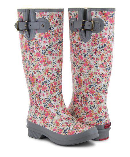 a198dd862bf Chooka Gray Floral Julia Rain Boot - Women | zulily | My Style ...