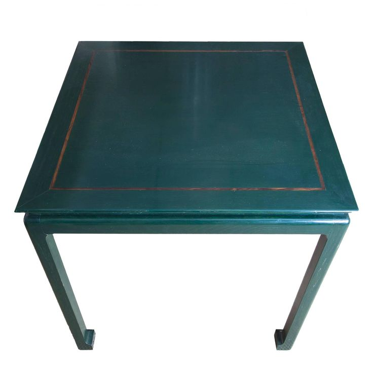 Green Lacquered Asian Games Table with Gold Detail | From a unique collection of antique and modern game tables at https://www.1stdibs.com/furniture/tables/game-tables/