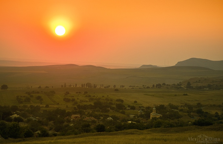 Sunset in Dobrogea.