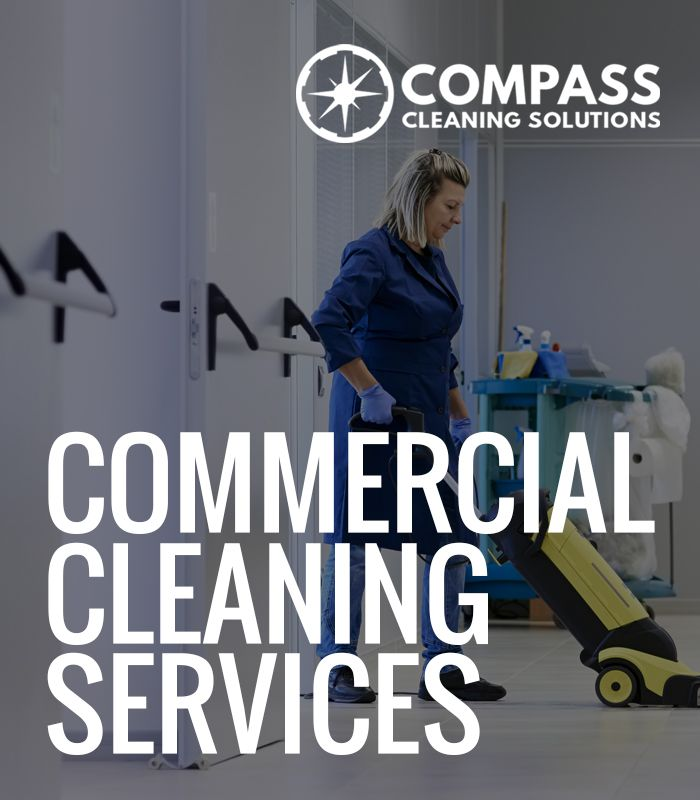 Outsourcing your office cleaning to a commercial cleaning services company is as simple as a phone call. At Compass Cleaning Solutions we offer you commercial cleaning services that include day-to-day janitorial duties. We promise the highest standards in commercial cleaning available in the Phoenix area.