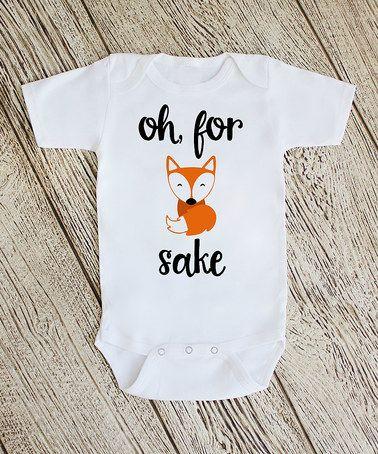 Love this White 'Oh For Fox Sake' Bodysuit - infant on #zulily! #zulilyfinds