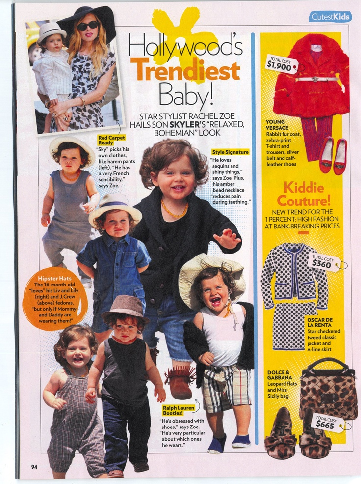 Rachel Zoe names Liv and Lily in People Magazine as one of her favorite brands for her son, Skyler.  http://www.livandlily.com/ecom/index.php?route=product/category=64_92