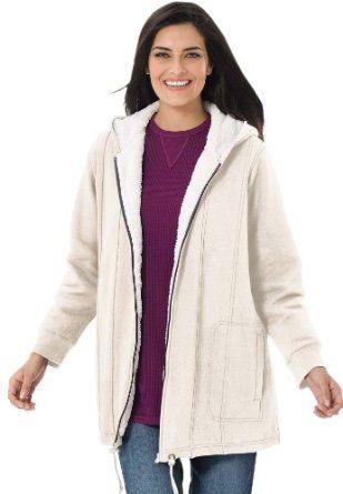 Plus Size Jacket With Ivory Pile Lining (Fresh Violet,M) BCO. $29.99