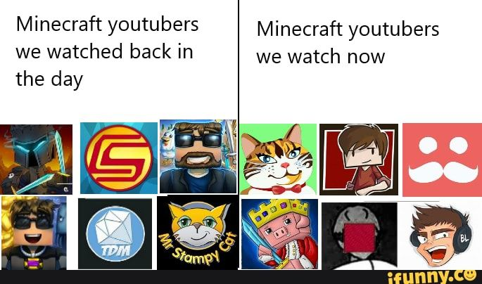 Minecraft Youtubers Minecraft Youtubers We Watched Back In We