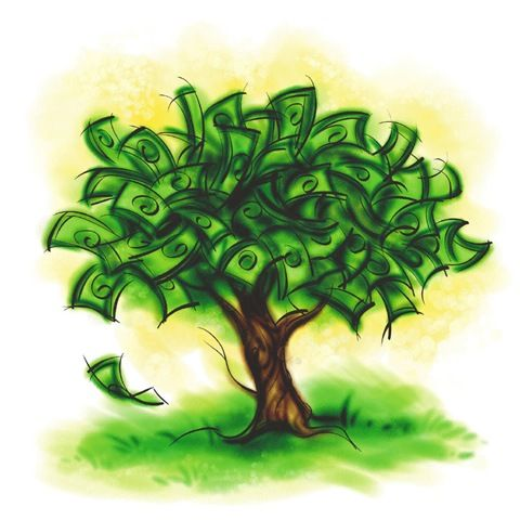 While a money tree would be awesome, this symbol is for wealth! ;)
