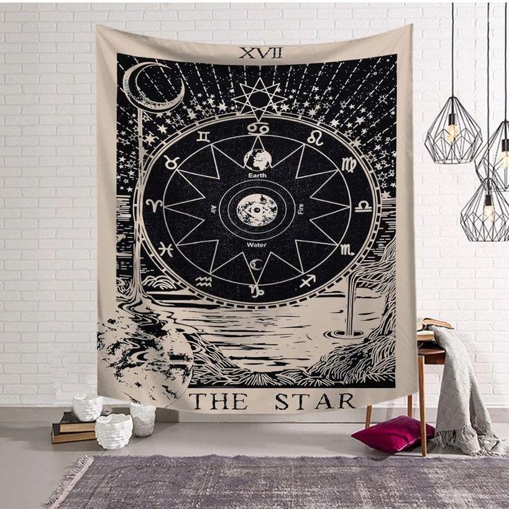 Tapestry the star tarot card star tapestry moon tapestry
