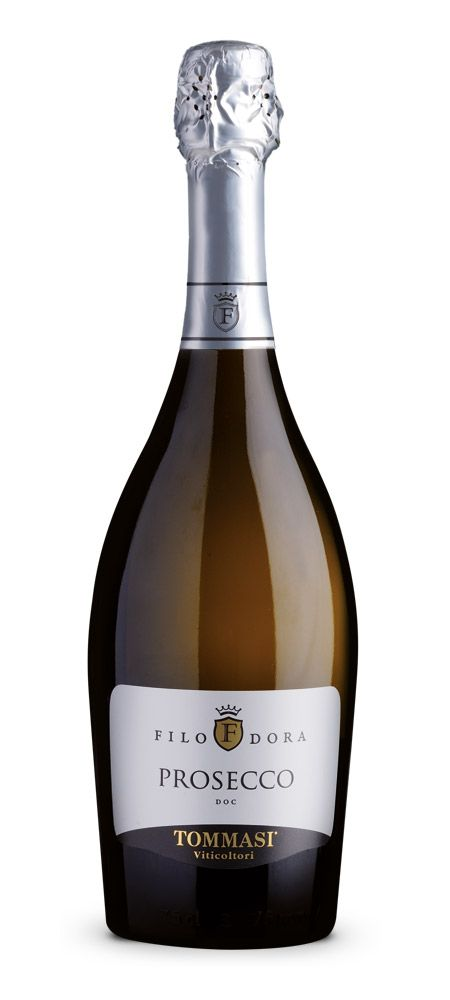 Prosecco Filodora | Tommasi Wine Tasting Notes - Light straw yellow & bright. Elegant, white & lively foam with very fine & thin perlage. Clean & spicy it has an elegant, floral nose with hints of acacia & wisteria flowers. Pleasantly intense, dry, easy to drink, with a light almond aftertaste.