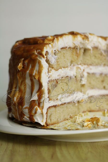 ginger pear cake + caramel glaze