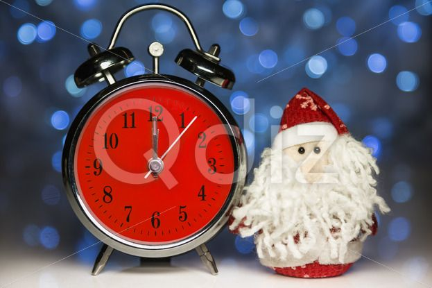 Qdiz Stock Photos | Santa Claus or Father Frost and retro alarm clock,  #alarm #analog #antique #background #beard #celebration #Christmas #Circle #classic #Claus #Clause #Clock #closeup #color #colorful #deadline #decoration #decorative #doll #eve #face #Father #figure #front #frost #fun #funny #greeting #holiday #hour #lights #little #Merry #midnight #new #object #old #red #retro #Santa #small #Time #toy #traditional #twelve #vintage #white #xmas #year