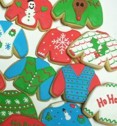 Ugly Sweater Cookies Christmas Cookies Christmas by RPConfections
