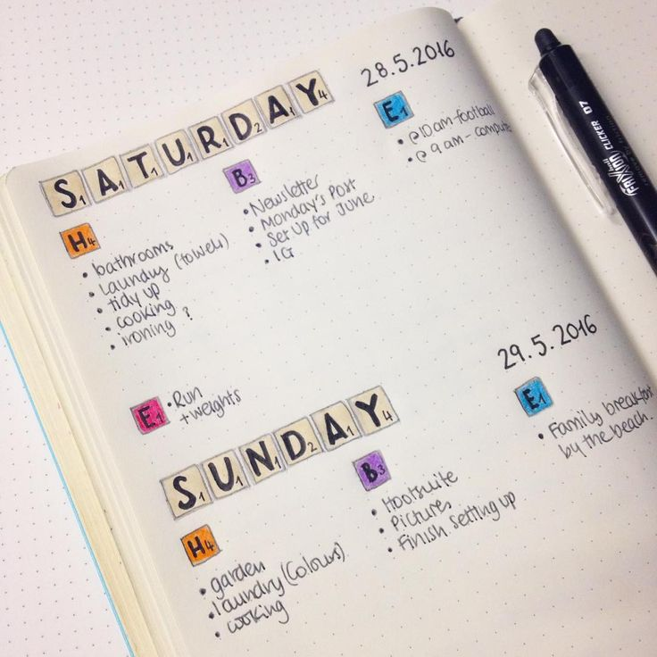 Setting up my dailies before the weekend :) #bulletjournal