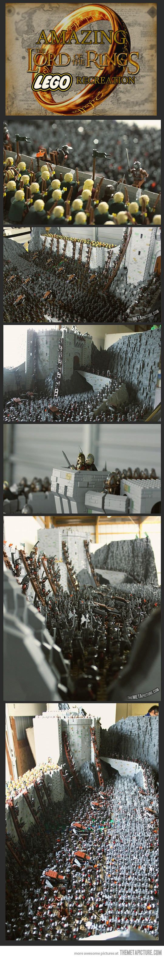 Lord Of The Rings LEGO Recreation. Whoever did this deserves a gold medal. And has too much time on their hands!