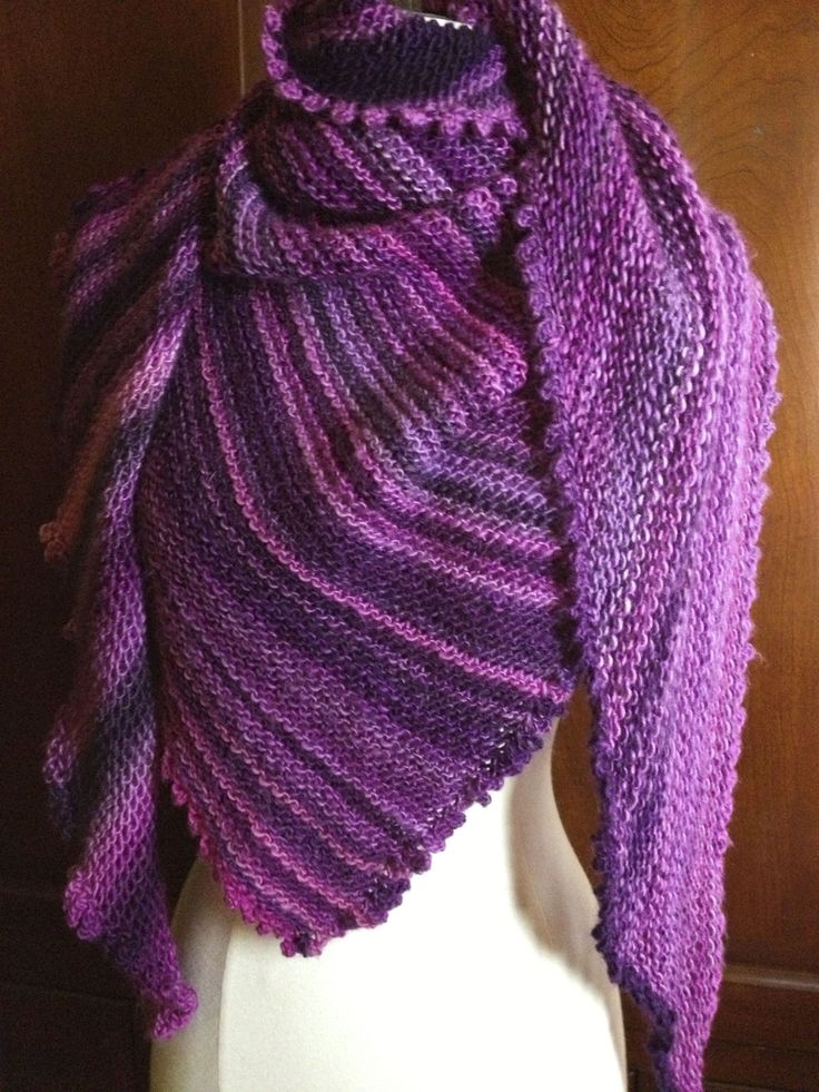 Picot Triangle Shawl Knitting Loom Knitting Patterns