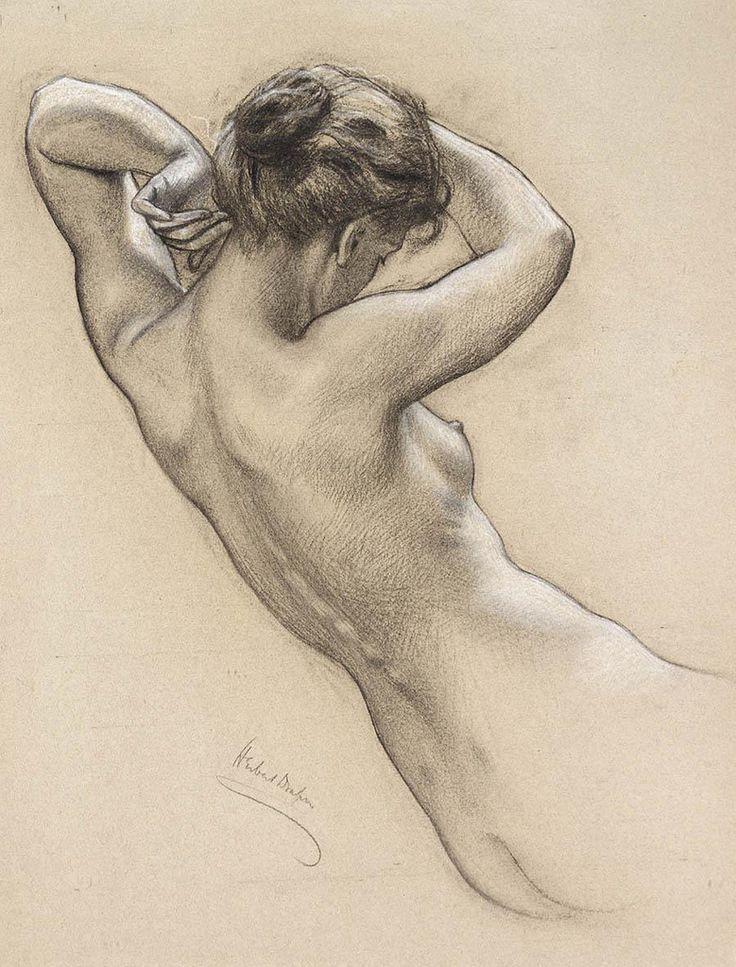 The Fine Art Nude - Herbert James Draper.  Peintre britannique (1863-1920) connu pour ses tableaux sur la mythologie grecque et ses portraits.
