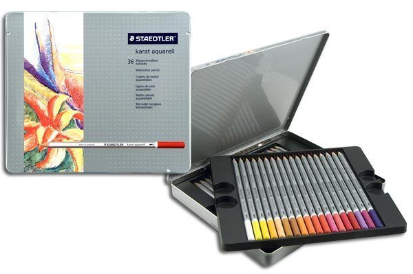 Staedtler Karat Aquarell Professional Watercolour Pencil 36 Colors 125 M36 #Staedtler