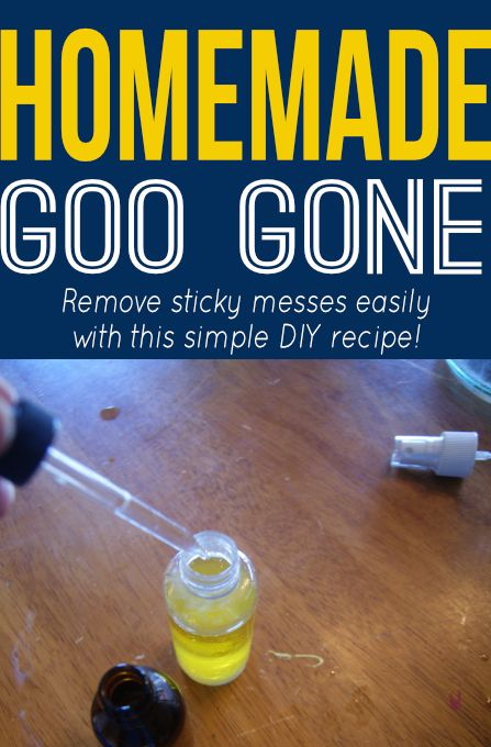 Easily remove sticky messes with this simple DIY recipe for Goo Gone! #homemade #recipe #copycatrecipe #diy #savemoney