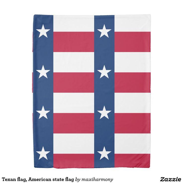 Texan flag, American state flag Duvet Cover