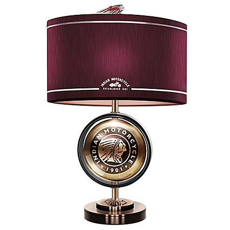 Indian Motorcycle Cold-Cast Bronze Accent Lamp