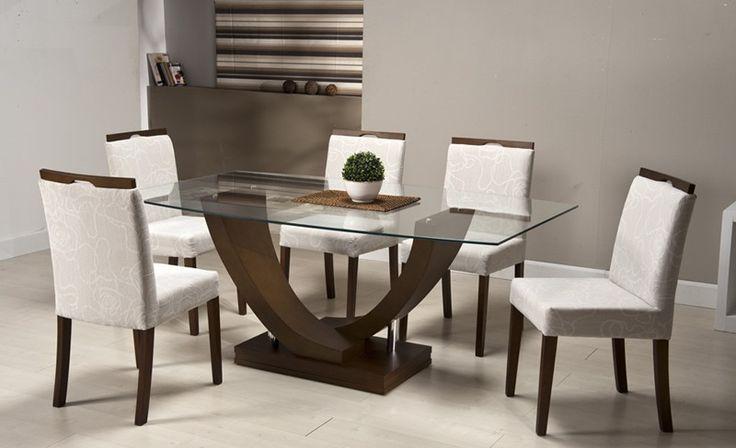 17 mejores ideas sobre sillas de comedor tapizadas en - Mesas modernas de comedor ...
