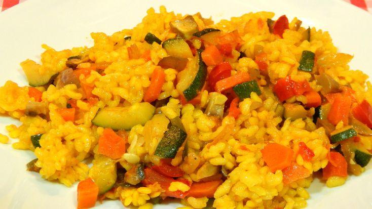 Receta fácil y rápida de arroz con verduras