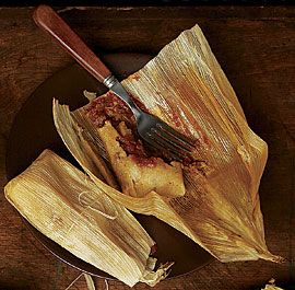 Fine Cooking Pork Tamales. I make these every year for Christmas Eve dinner.