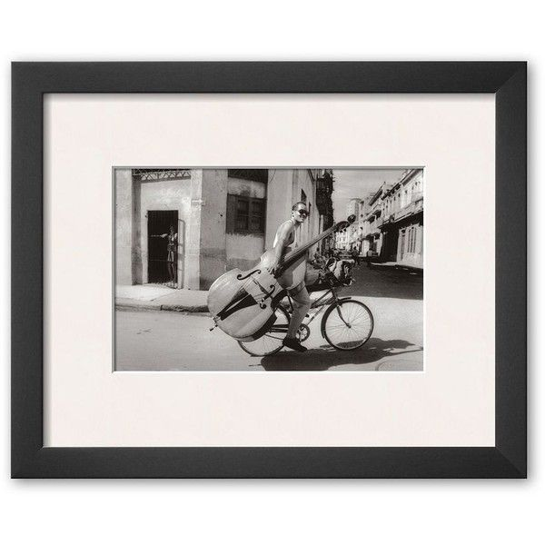 Art.com ''Cuba, 1997'' Framed Art Print by Rodero, Soho Thin ($109) ❤ liked on Polyvore featuring home, home decor, wall art, soho thin, framed picture, music wall art, black and white wall art, photo wall art and horizontal picture