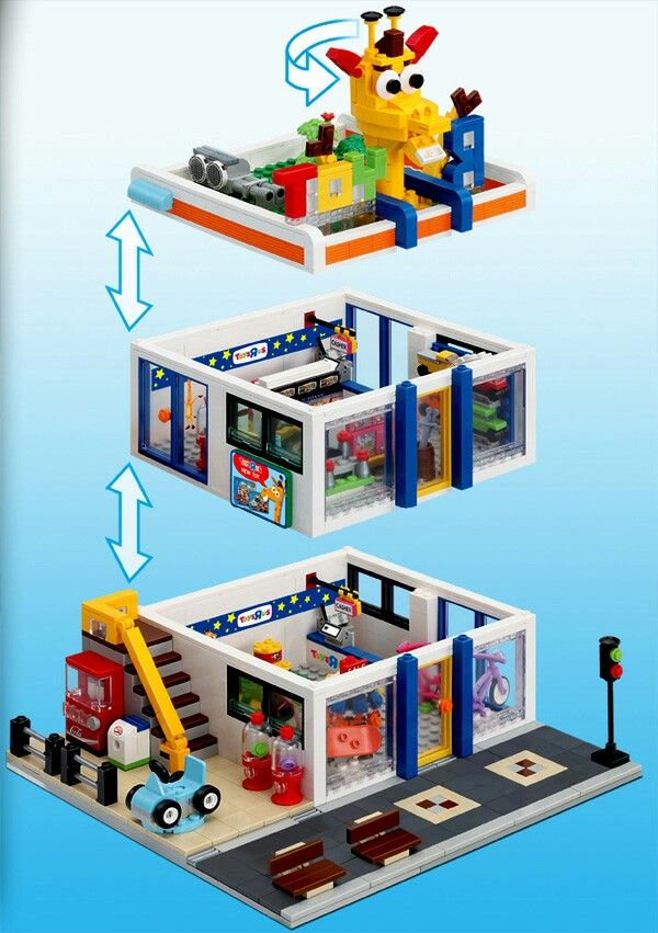 Oxford lego-style modular toy-shop                                                                                                                                                                                 More