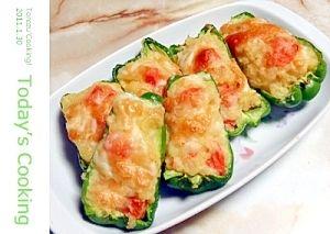 ピーマンにポテトサラダを詰めます!お弁当に! レシピ・作り方 by torezu|楽天レシピ