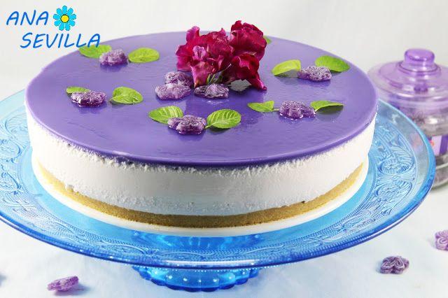 Tarta de caramelos violetas cocina tradicional. Ana Sevilla