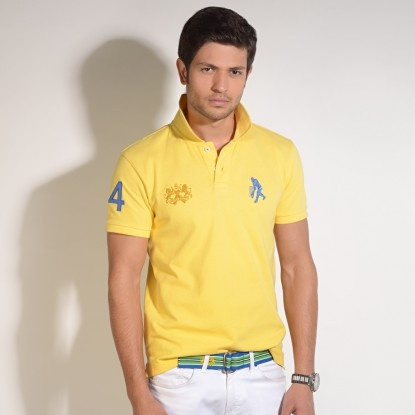Classic Cricket Polo in Yellow