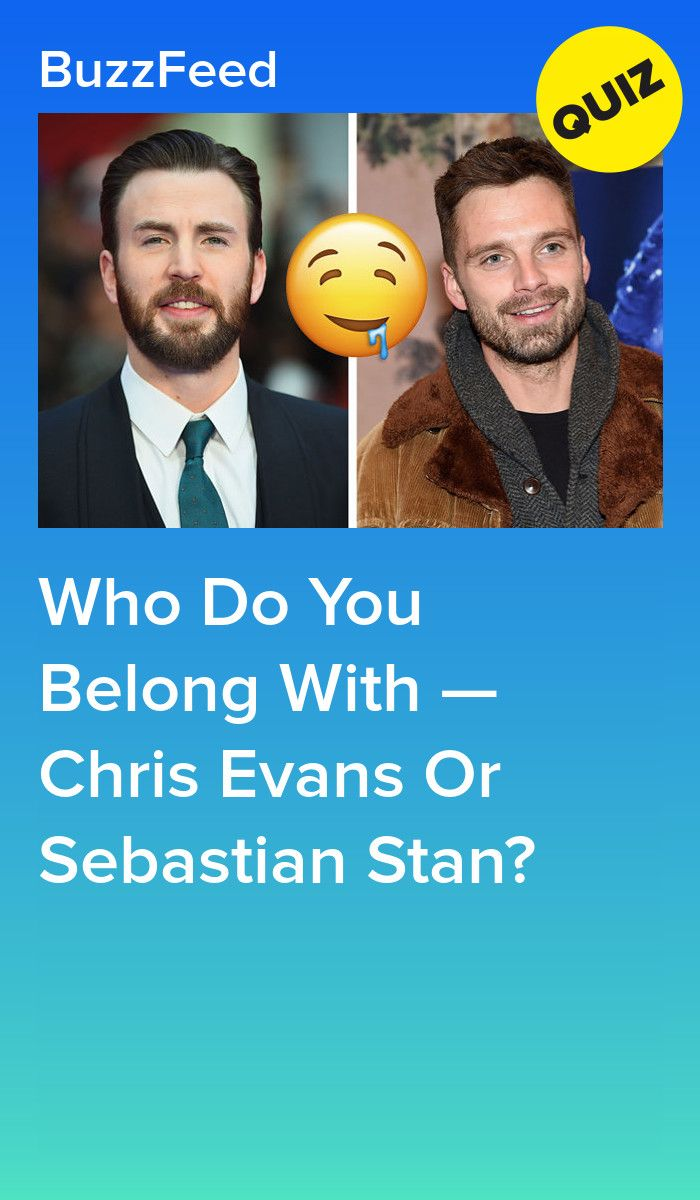 Who Do You Belong With — Chris Evans Or Sebastian Stan? | quizzes