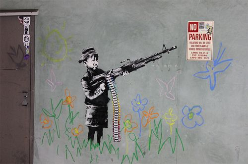 Banksy - Crayon Boy, Los Angeles USA, 2011