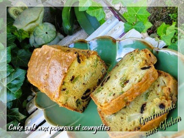 SANS GLUTEN SANS LACTOSE: Cake aux poivrons et courgettes sans gluten et sans lactose