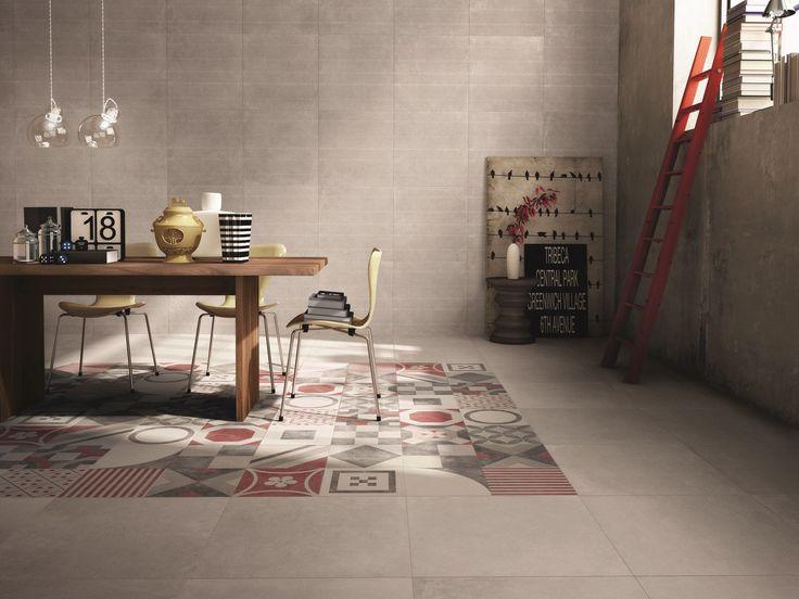 Pavimento/rivestimento in gres porcellanato DOCKS by ABK Industrie Ceramiche