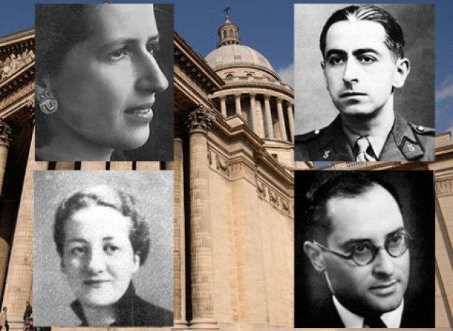 En 2015 au Panthéon, François Hollande rend hommage à quatre personnalités au parcours ancré dans la Résistance : G. de Gaulle-Anthonioz, G. Tillion, P. Brossolette, J. Zay