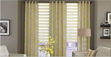Living Room- Horizontal Sheer Shades & Curtains - traditional - Venetian Blinds - Other Metro - 3 Day Blinds