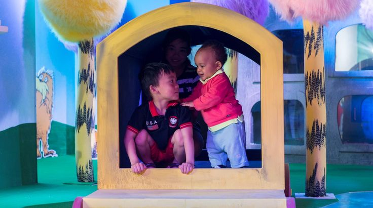 Childrens playing in the Story World at Discovery Childrens Story Centre in Stratford