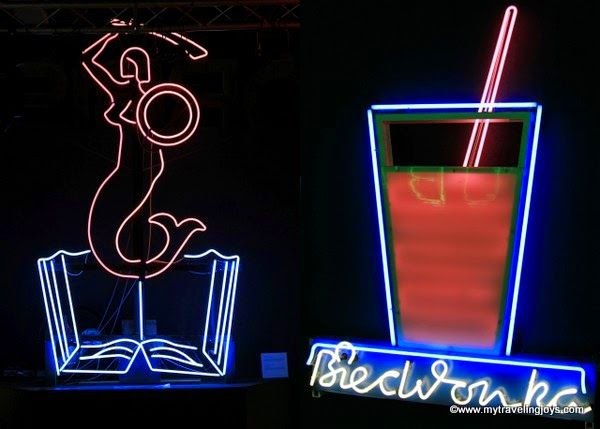 """Syrenka"" (Mermaid) is the symbol of Warsaw. Neon Signs in Warsaw ~ My Traveling Joys"