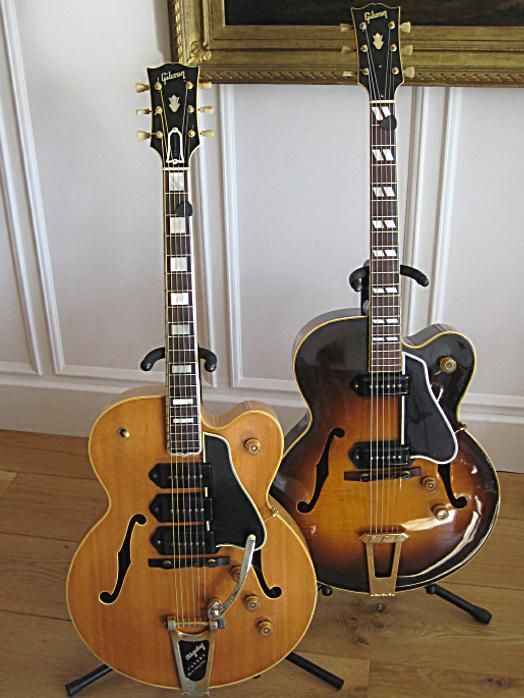 Gibson guitars - 1955 es5 and 1949 es350  http://www.vintageandrare.com/category/Guitars-51