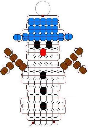 Snowman pony bead pattern