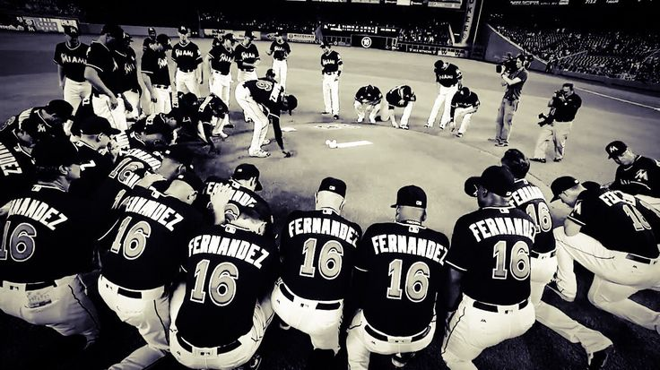 In honor of their teammate.. Miami Marlins... Jose Fernandez