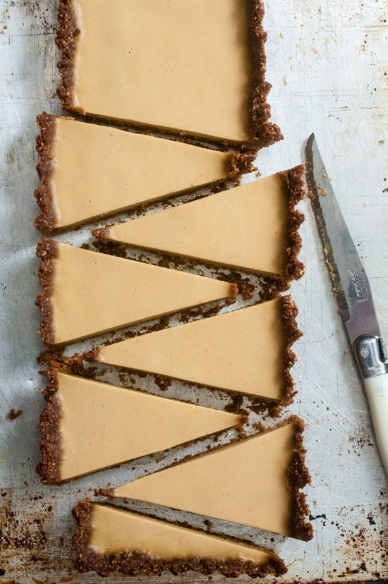 Pumpkin Panna Cotta Tart with Gingersnap Macaroon Crust ★
