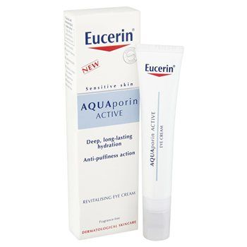 Eucerin AQUAporin ACTIVE Revitalising Eye Cream Eucerin AQUAporin ACTIVE Revitalising Eye Cream For dehydrated, sensitive skin around the eyes A moisturising cream that provides intense, 24-hour hydration and relieves puffiness and dark circles in  http://www.MightGet.com/january-2017-12/eucerin-aquaporin-active-revitalising-eye-cream.asp