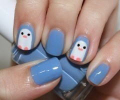 nails - love the blue!!