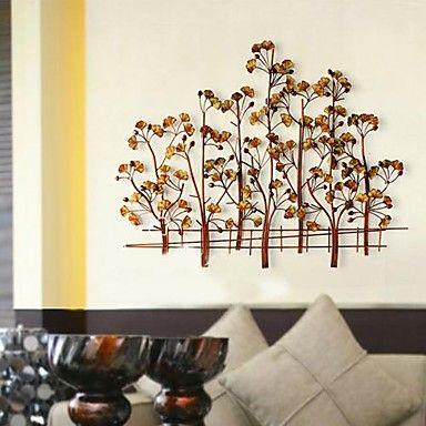 Metal Wall Art Wall Decor,Happiness Of The Ginkgo Tree Wall Decor – USD $ 119.99