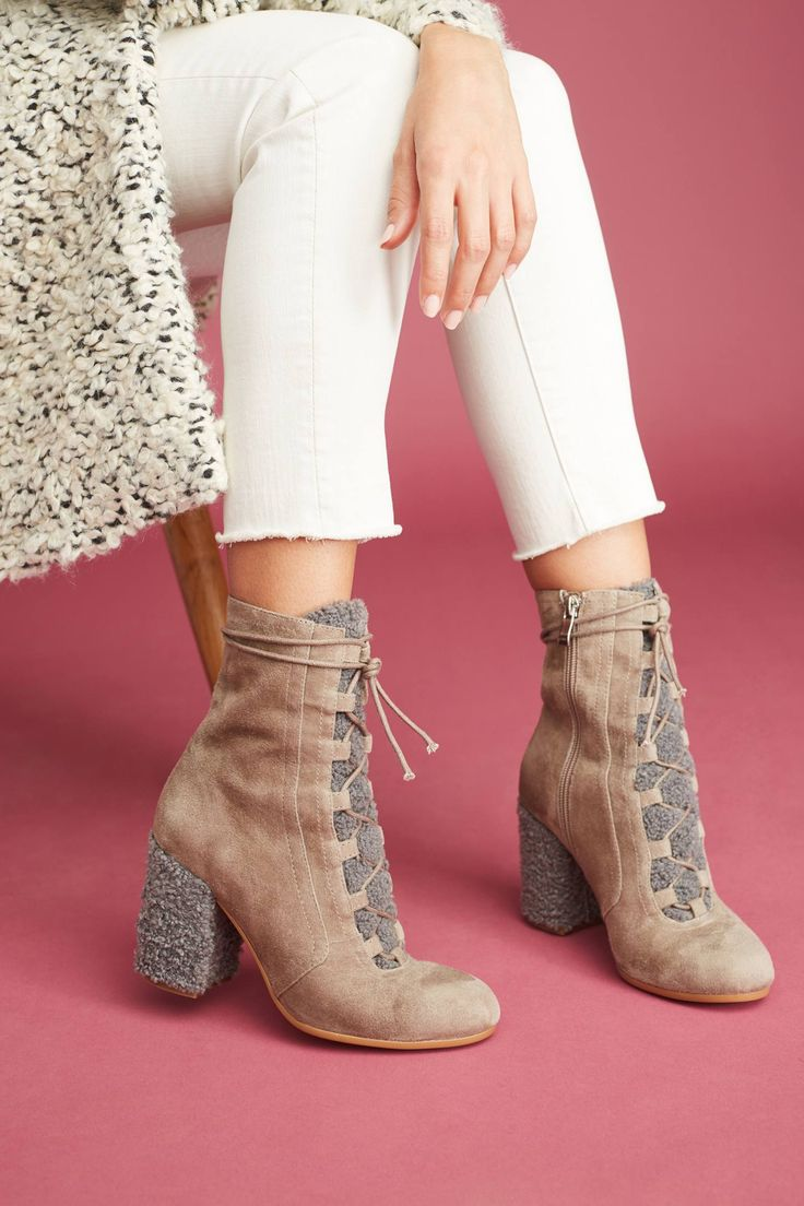 at Anthropologie -  Worship Lace-Up Boots