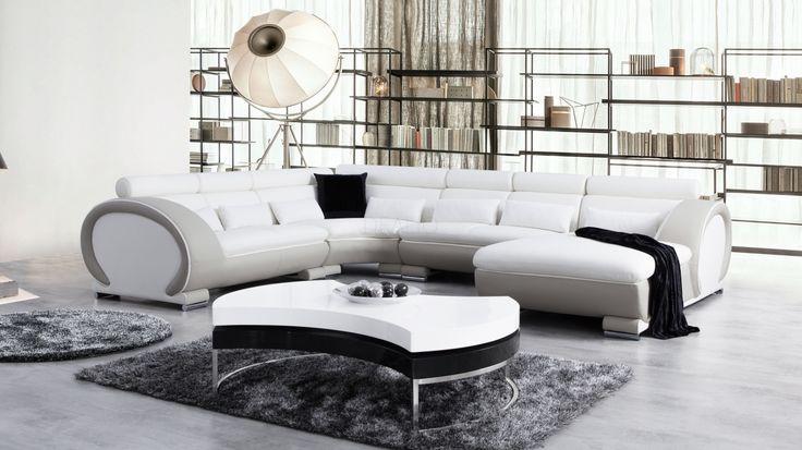 Carmel Leather Modular Lounge Option A - Lounge Life