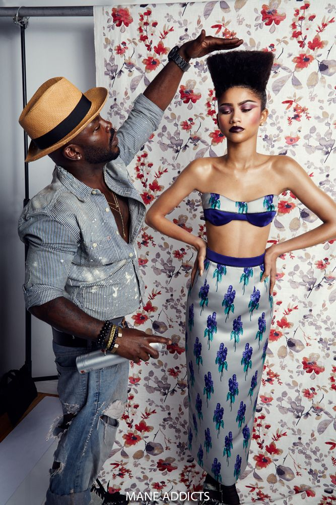 #ManeMuse Zendaya channels Grace Jones with an INSANE high top fade by #ManeMaster Larry Sims in our exclusive editorial